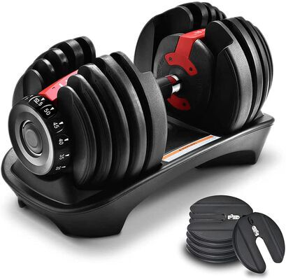 4. AlwaysClean Adjustable Dumbbell Single Set for Home Fitness and Exercises