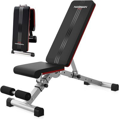 5. HASIMAN Adjustable Weight Bench for Home Gym